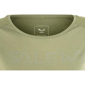 SALEWA Pedroc Delta Dry Camiseta Manga Corta Mujer, oil green/5757
